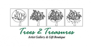 Trees 2 Treasures - Artist Gallery and Gift Boutique Logo Design Corporate Branding