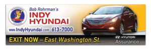 Bob Rohrman's Indy Hyundai - 14' X 48' Bulletin - Design and Vinyl Production