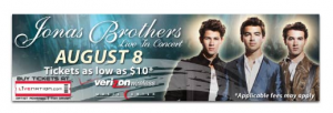 Live Nation - Jonas Brothers Concert - 14' X 48' Digital Bulletin