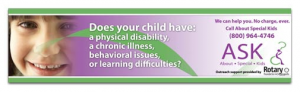 "ASK - About Special Kids - (English) 11"" X42"" Transit Interior Card"